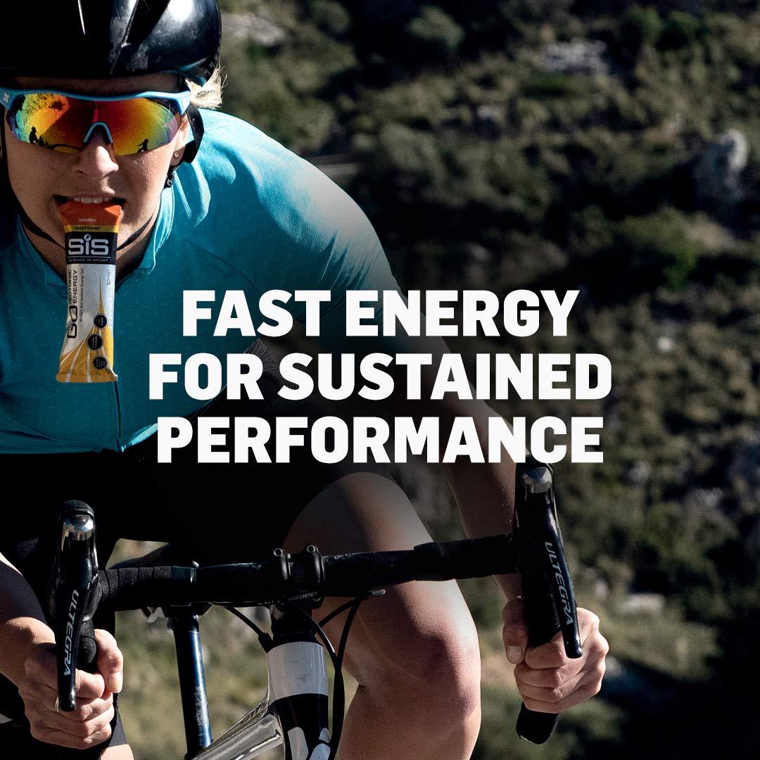 Science in Sport Energy Gel Pack, SIS Energy Gel + Electrolyte, 22g Fast Acting Carbs, Performance & Endurance Gels, Raspberry Flavor - 2 Oz. (30 Pack) by Science in Sport (Image #4)