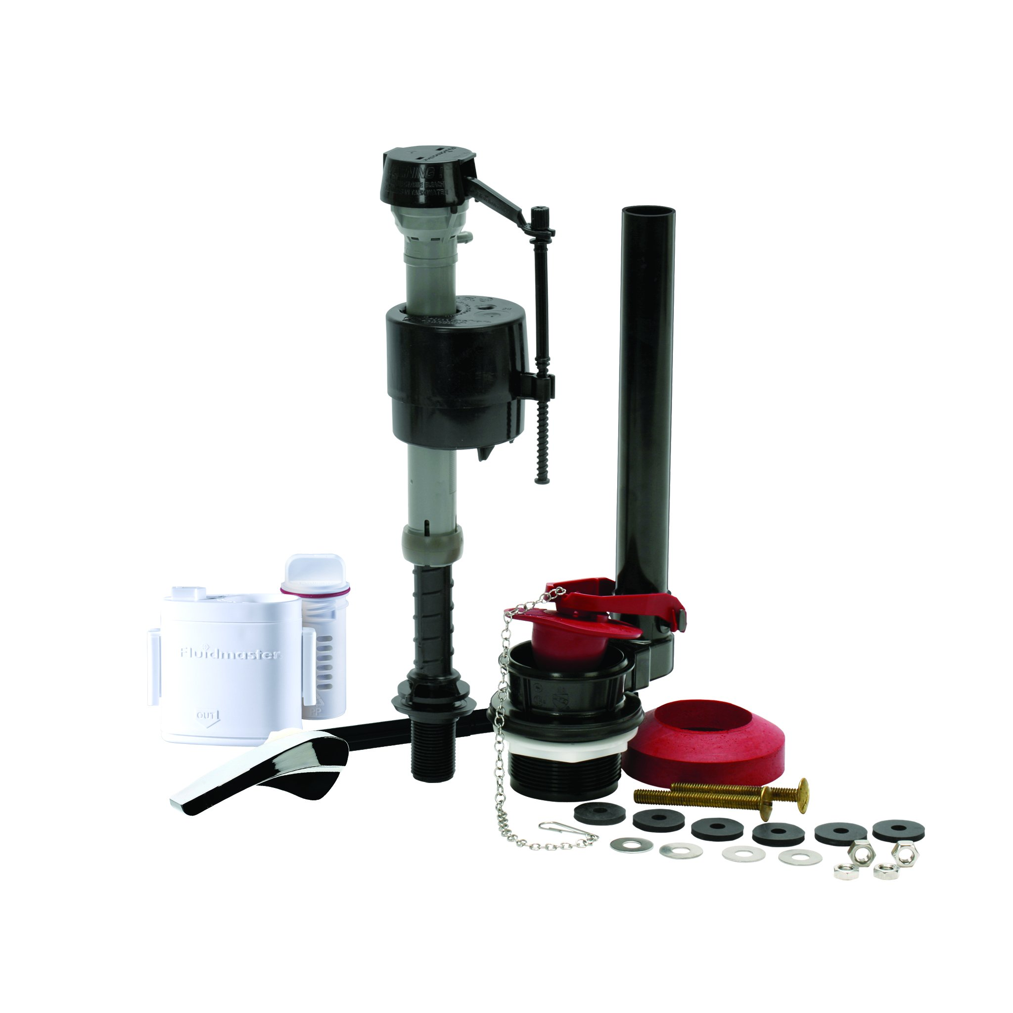 Fluidmaster 400AKFS Universal All-In-One Toilet Repair Kit With Flush 'n Sparkle Automatic Toilet Cleaning System, For 2-Inch Flush Valve Toilets