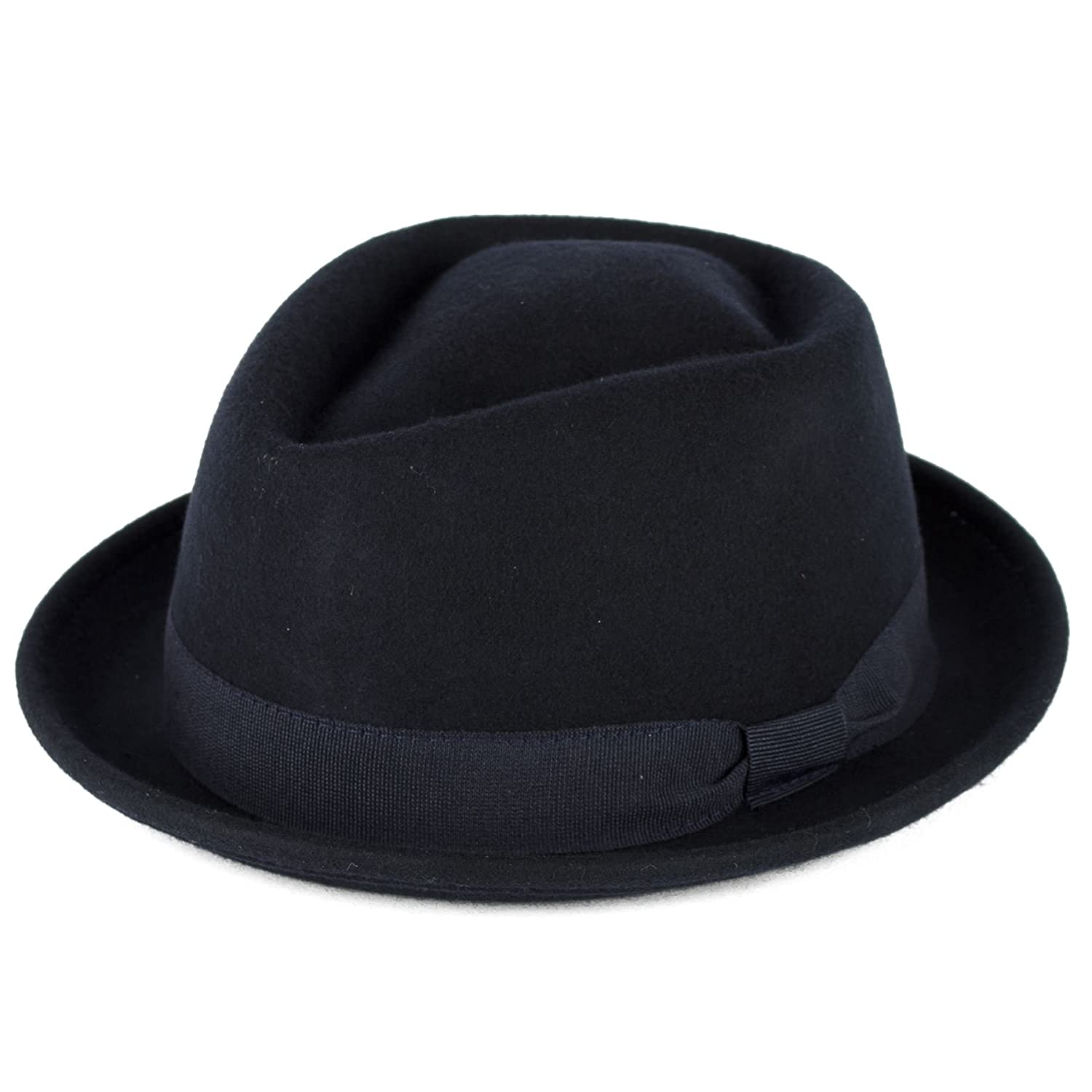 Unisex Made In Italy Waterproof Crushable Trilby Hat With Grosgrain Bow Style Band - Chocolate Brown (61/XL) d2d Hats 7709