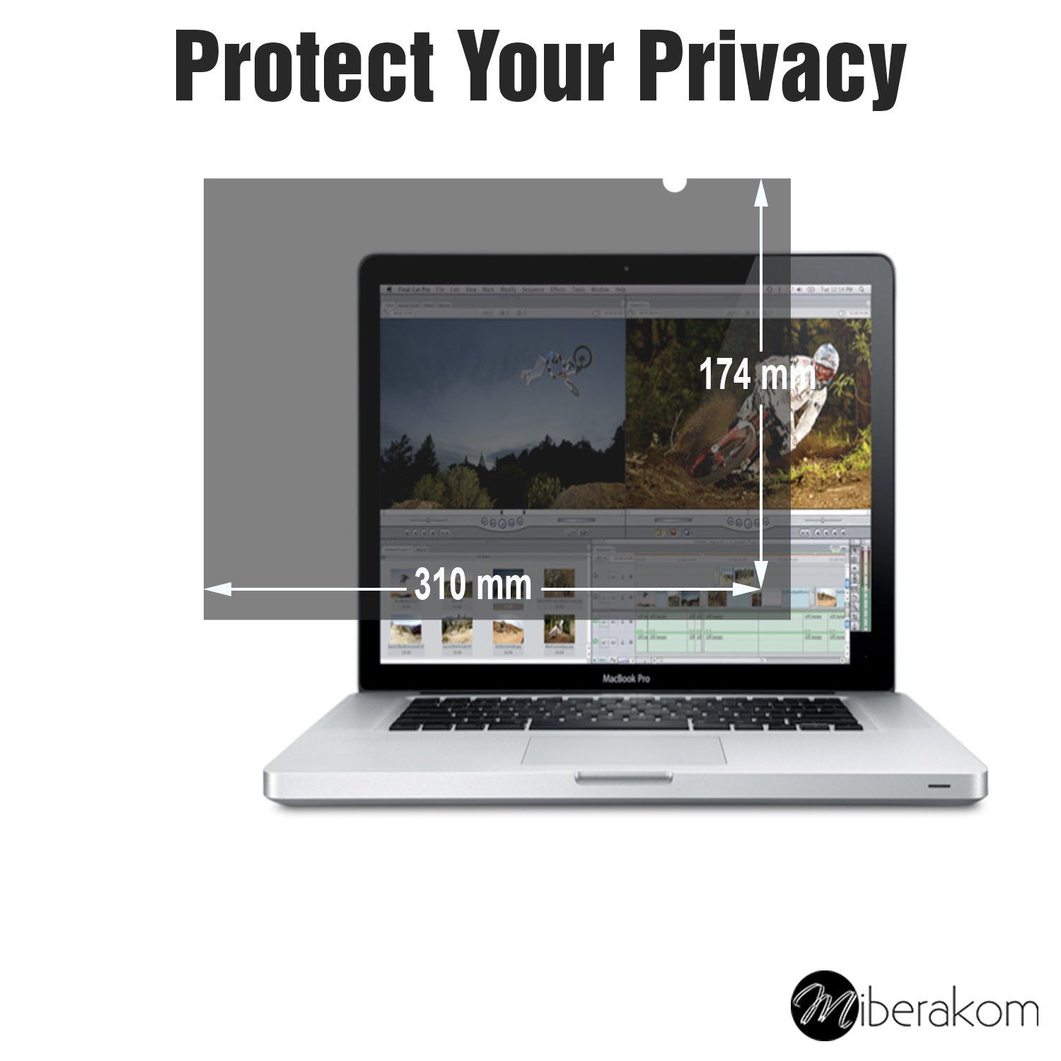 Miberakom Privacy Screen Filter Blickschutzfilter