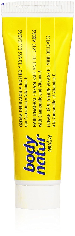 Body Natur - Crema depilatoria para pieles sensibles - Rostro y zonas delicadas - 50 ml: Amazon.es: Salud y cuidado personal