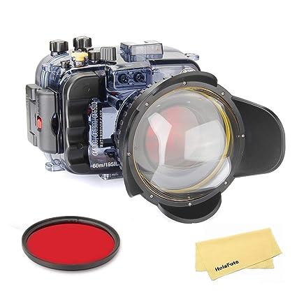 SeaFrogs - Funda para cámara de Fotos submarina, con Puerto de Ojo ...