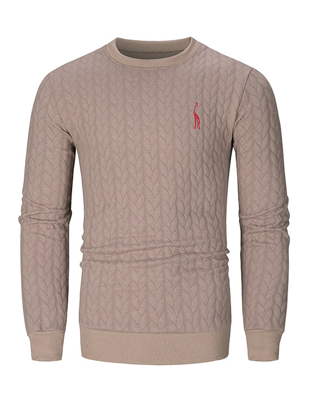 GotoseeU Men's Sweater with Round Neck and Long Sleeves,Soft and Comfortable(Two Colors and Four Sizes)