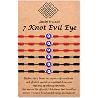 Tarsus Evil Eye 7 Knot Lucky Bracelets Adjustable Red String Amulet for Family Friends £¨Fits Adult & Baby£