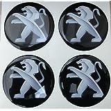 60mm Negro Tuning Efecto 3d 3m resinato coprimozzi Tachuelas Caps pegatinas stickers para círculos de aleación x 4unidades)
