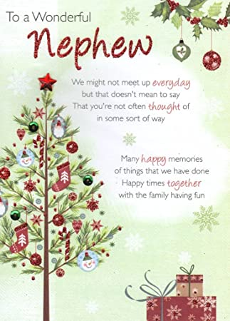 To A Wonderful Nephew Christmas Greeting Card Traditional Cards ...
