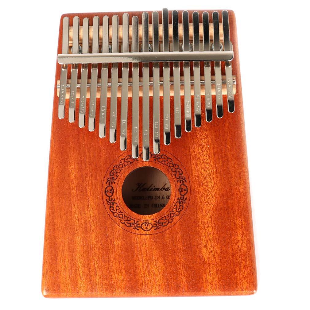Hidear Thumb Piano Kalimba 17 keys Finger Piano 17 Tone Musical Toys with Instruction and Tune Hammer, Portable Thumb Piano Okoume