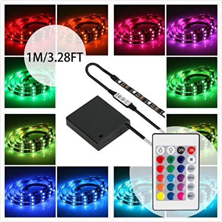 Battery powered led strip lights with remote controlgeekeep battery powered led strip lights with remote controlgeekeep waterproof flexible led light strips smd aloadofball Choice Image
