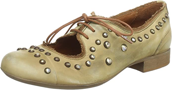 Virus Moda 850196 - Zapatos de Cordones de Cuero para Mujer, Color Beige, Talla 36: Amazon.es: Zapatos y complementos