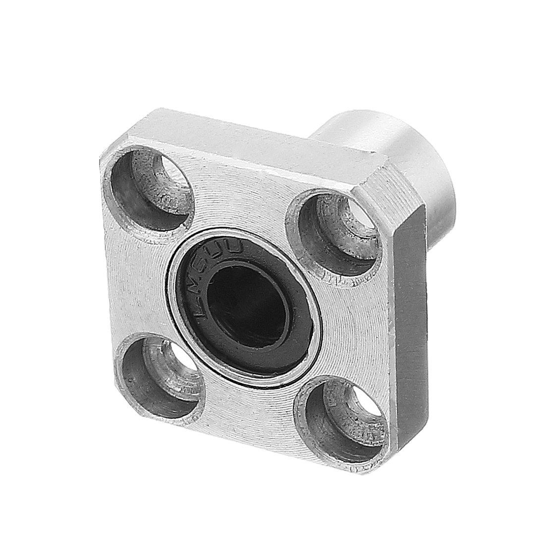 uxcell LMK16UU 16mmx28mmx37mm Flange Linear Motion Bushing Ball Bearing 2 Pcs