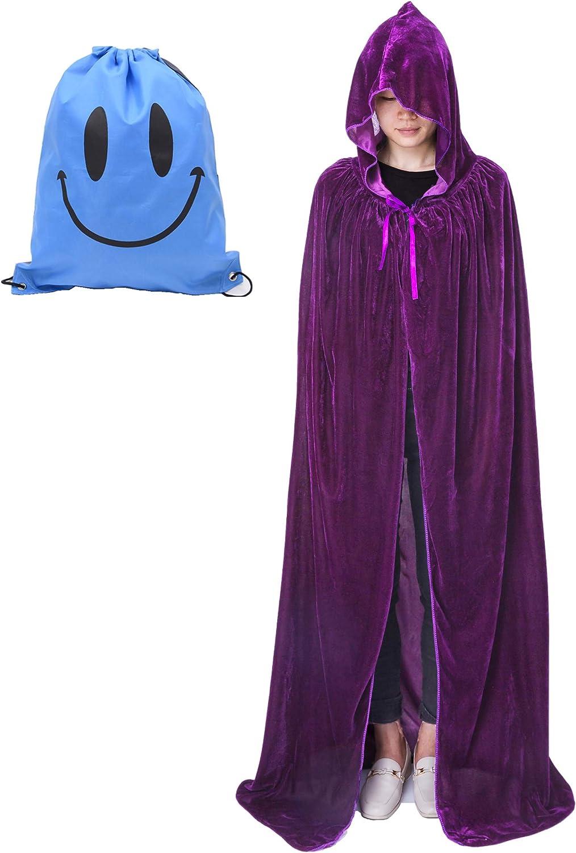 Largo Capa con Capucha, Unisex Adulto Niños Disfraz de Halloween ...
