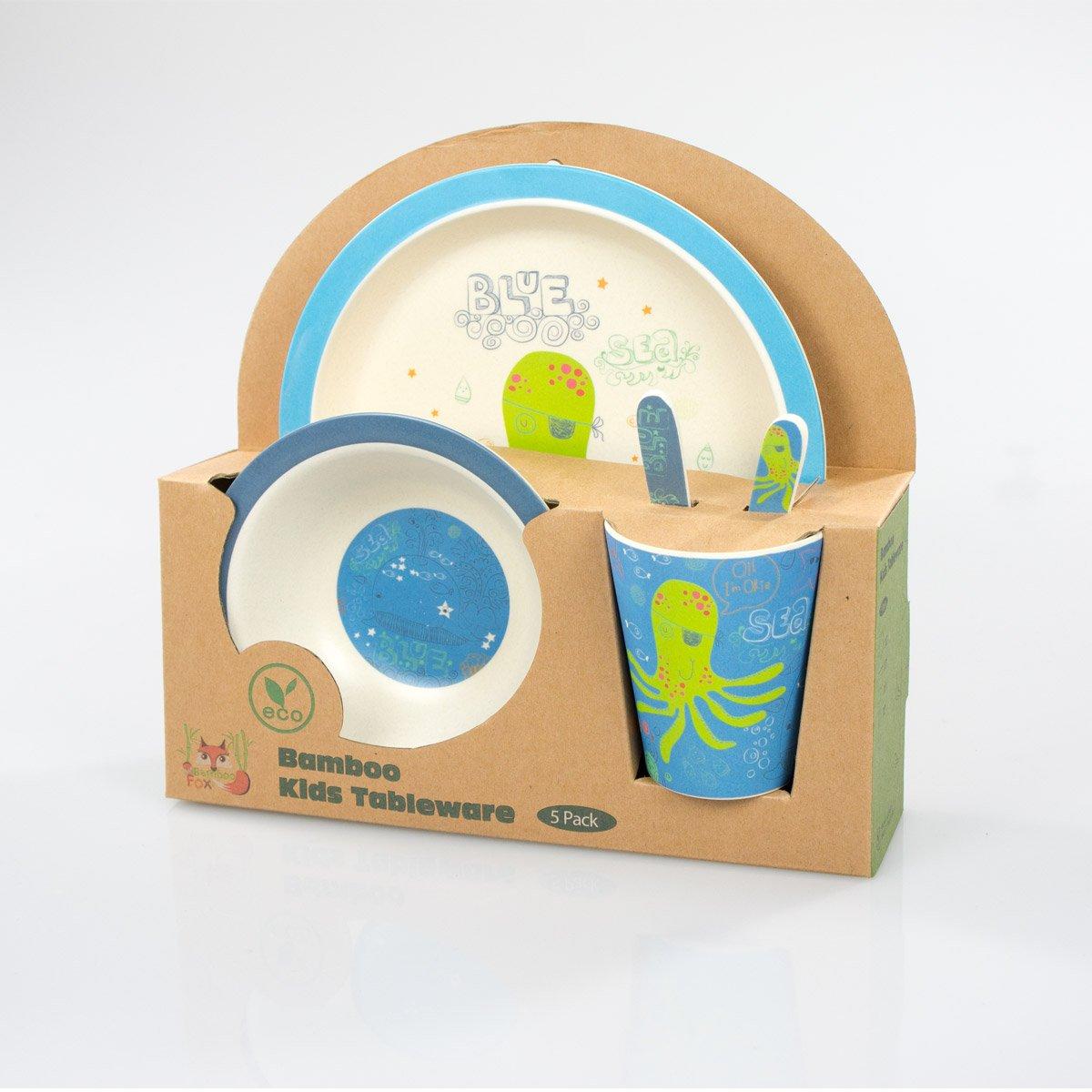 /Buntes Bambou vaisselle et couverts avec motifs/ Bamboo Fox Stra/ßenr/äuber Set de vaisselle enfant/ /100/% BIO Bambou/ /Respectueux de lenvironnement Enfant Panda