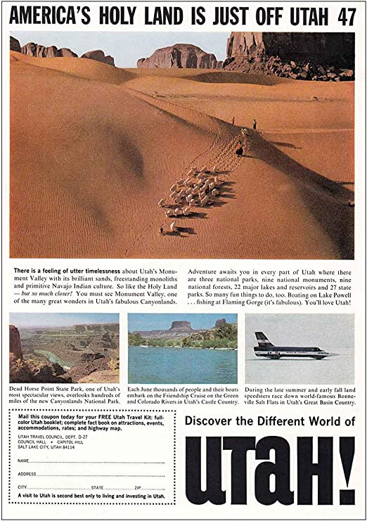 Colorado River Fishing United States of America Travel Advertisement Poster II