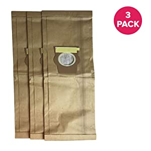 """Crucial Vacuum Replacement Vac Bags Part # 204808, 205808 - Compatible With Kirby Models G4, G5, G6, Ultimate G Diamond, Sentria, Sentria II, Avalir - 9.5"""" X 7.3"""" X 1.2"""" Inches - Bulk Packs (3 Pack)"""