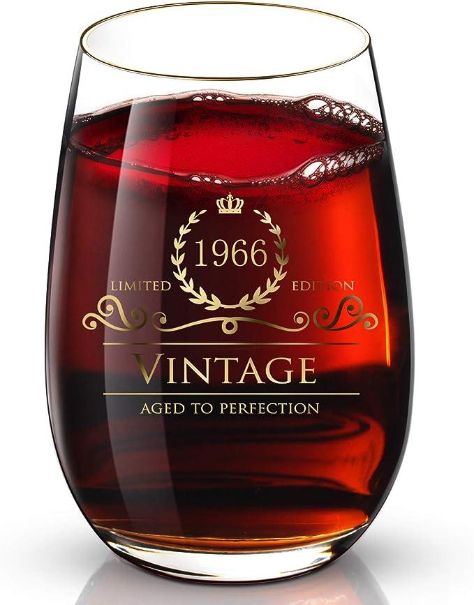 Hand Painted Libbey Clear Wine Glass ELLEN DEGENERES
