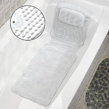 Almohada de Baño, Almohada de Colchón de Baño de spa de Cuerpo Completo Almohada de Bañera Acolchada Suave con Transpirable