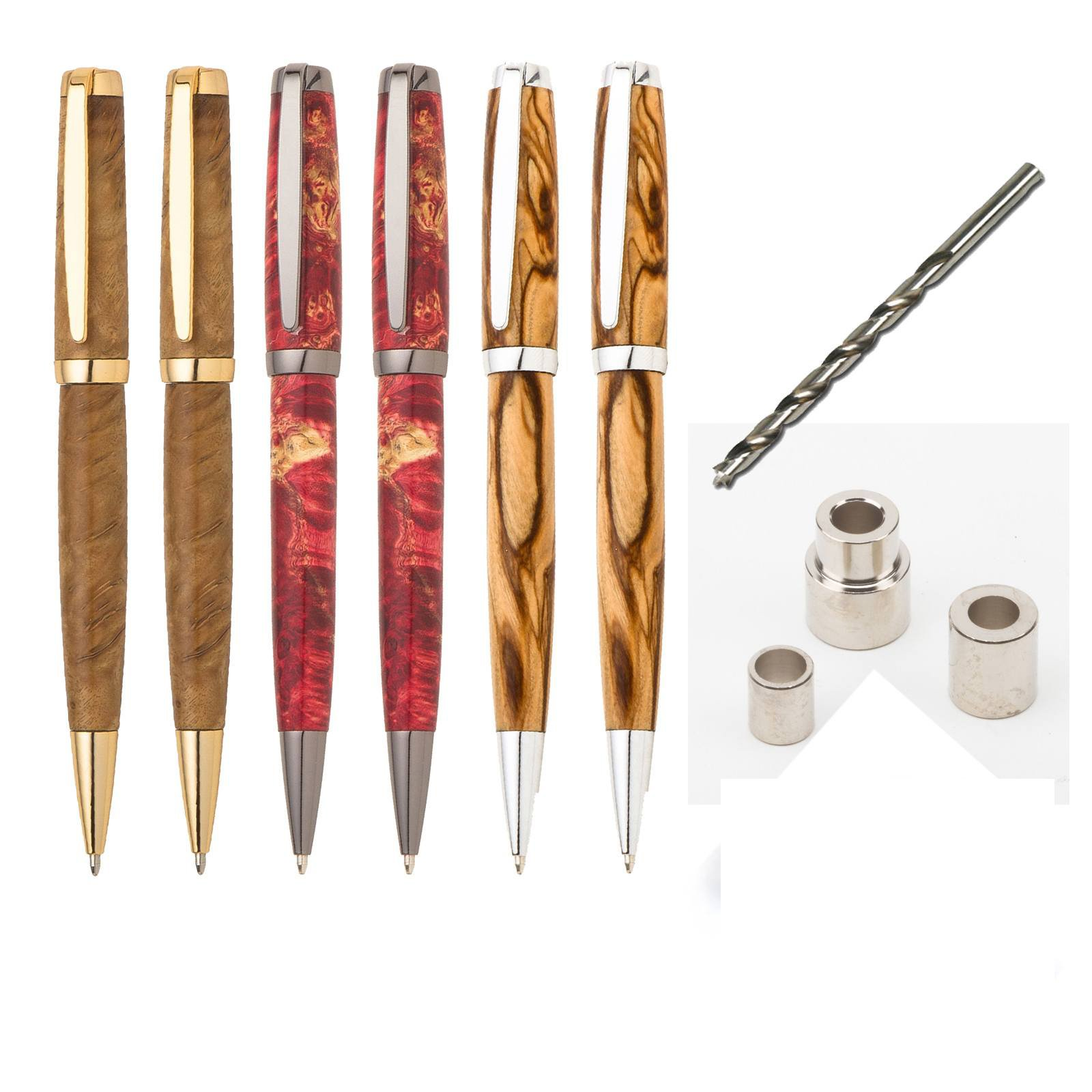 Penn State Industries PKGRADSS Graduate Twist Ballpoint Pen Kit Starter Package Woodturning Project