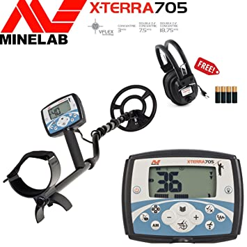 Amazon.com: Minelab X-Terra 705 Special Bundle with Free Headphones & Batteries: Garden & Outdoor