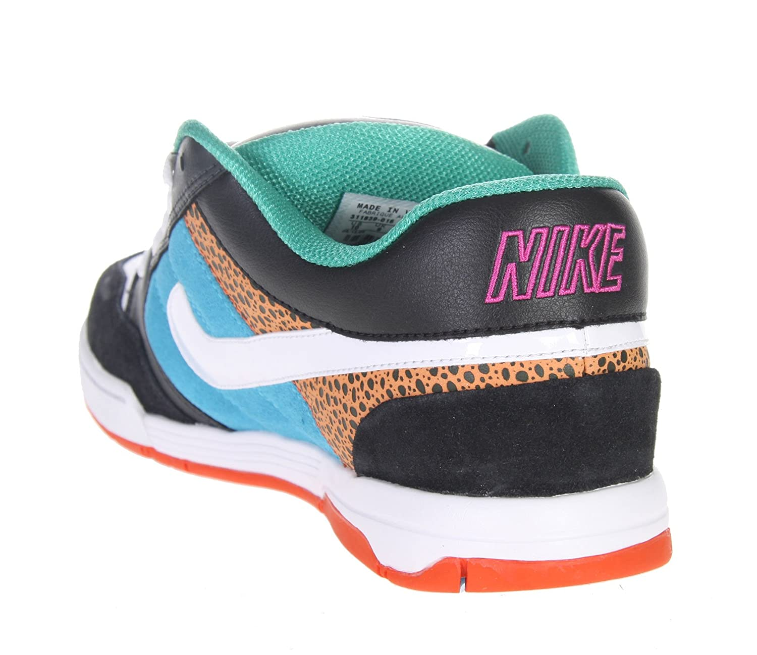 2a396b31d Nike Air Mogan Low 6.0 311839 Black Blue White Turquoise size Euro 47.5 US  13 UK 12 31 cm  Amazon.co.uk  Sports   Outdoors