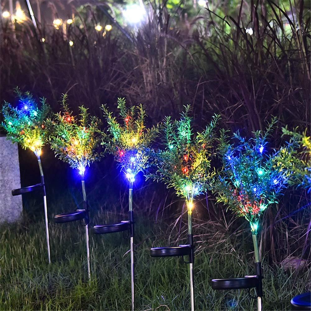 Lampe d/écorative de Paysage imperm/éable ext/érieur de Paquet de 2 for l/éclairage de Balcon de pelouse de Jardin Lhomey-malllight Lampe Solaire Ext/érieur Lumi/ères solaires de Fleur de Sapin de No/ël
