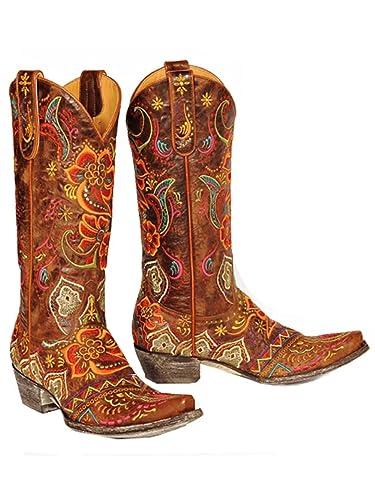 81d19e66bb8 Old Gringo L1629-3 Women's Olivia Brass/Multi Boots