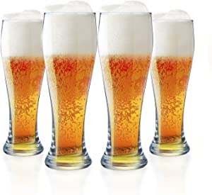 Beer Glasses Set of 4-23 oz Pint Glass Capacity, Craft Beer Glass, Pilsner Beer Glass and IPA Beer Glass Beer Glassware Cup, Classic Beer Glasses for Men, Cocktail Glassware