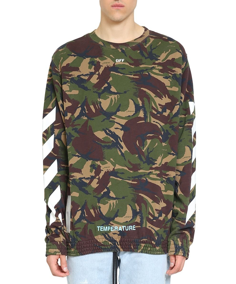 Off-White Men's Omba003s186000129901 Green Cotton Sweatshirt