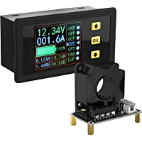 Charge-Discharge Monitor, DROK 0-90V 100A DC Ammeter Voltmeter Battery Capacity Amp-Hour Watt-Hour Power Time Multimeter…