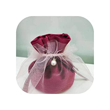 Amazon.com: 2019 Bolsas de regalo de franela para bodas ...