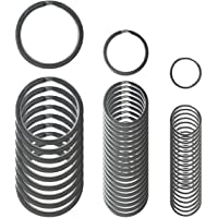 Llavero pequeño con anillas de metal de 10
