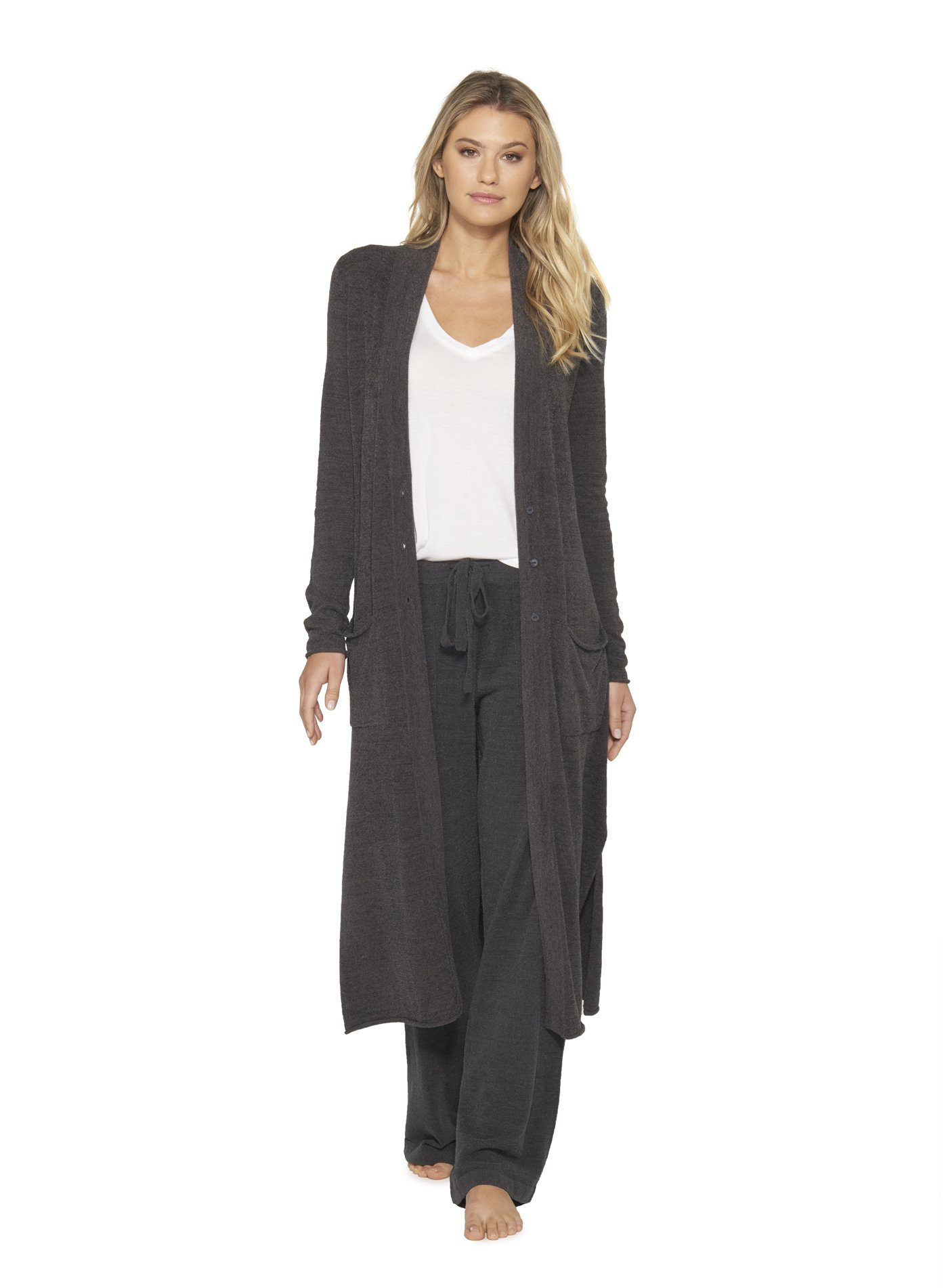 Barefoot Dreams Cozychic Lite Duster, Carbon, X-Small