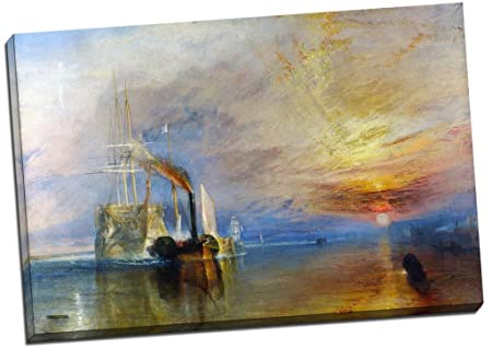 JMW Turner Fighting Temeraire Deception Canvas Print Picture Wall Art Large 30x20 Inches