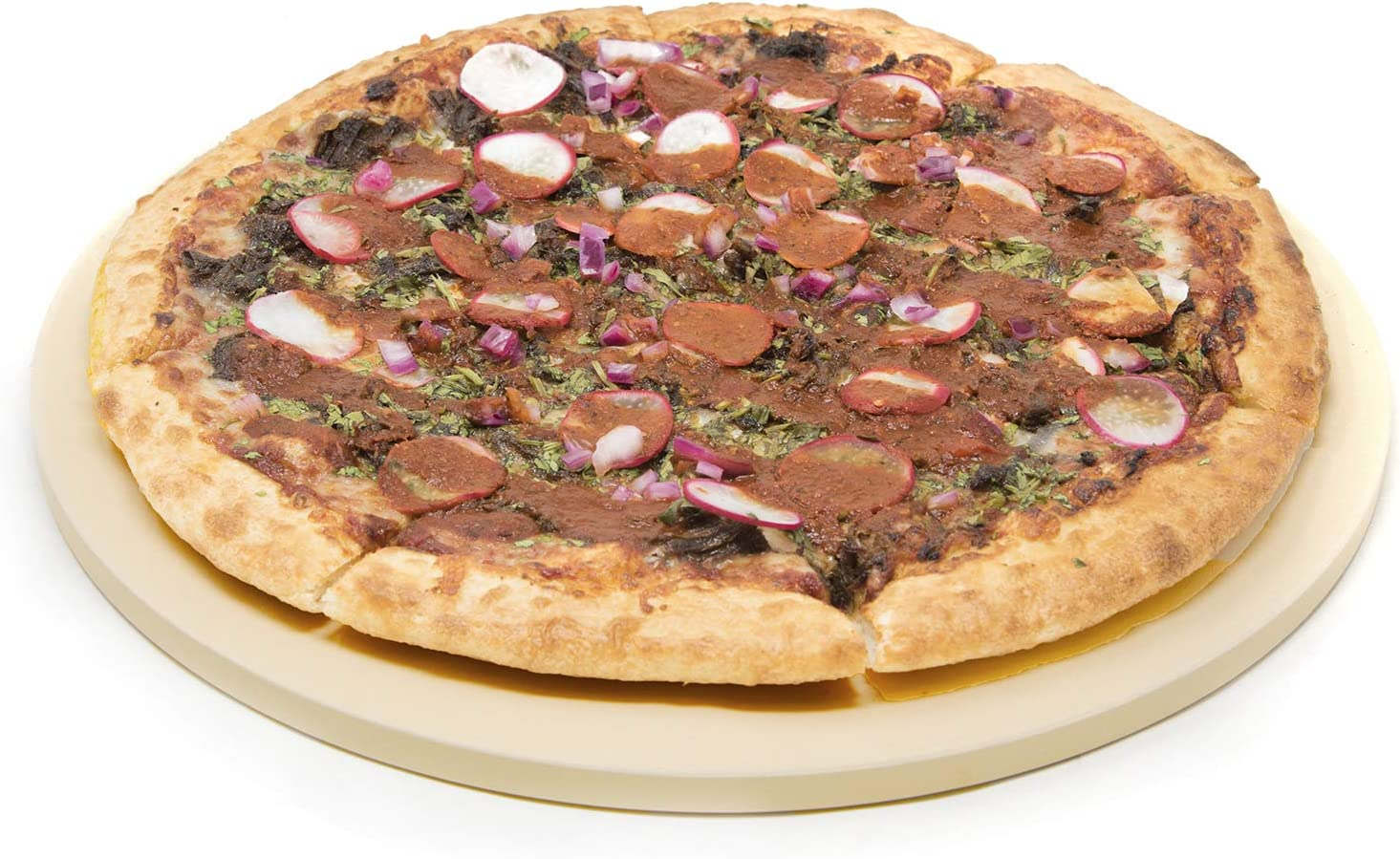 """Alpha Living 13"""" Round Pizza Stone for Oven or Grill - Baking Stone"""