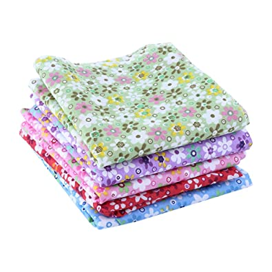 Buy Walfront 5 Colors Fabric Patchwork Cotton Craft Material Square
