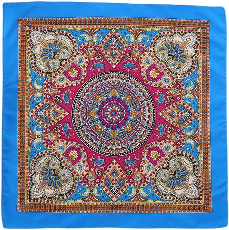luosh Sciarpa Quadrata Collo Stampa Floreale Stile Etnico Bandana Danza Fazzoletto Fazzoletto per Decorazione Donna Donna Uomo