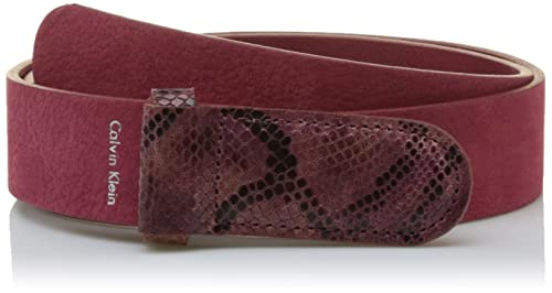 Calvin Klein Exotic Leather Buckle Belt, Cinturón para Mujer