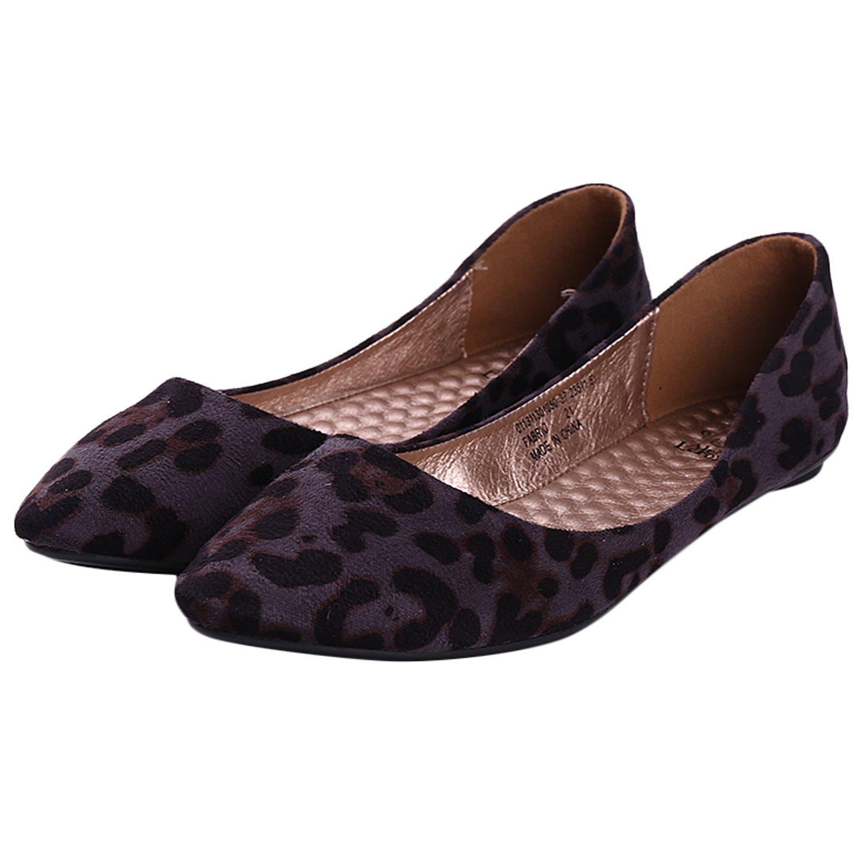 ff744d832028 Alexis Leroy Womens Leopard Design Low Top Ballet Flats Shoes:  Amazon.co.uk: Shoes & Bags