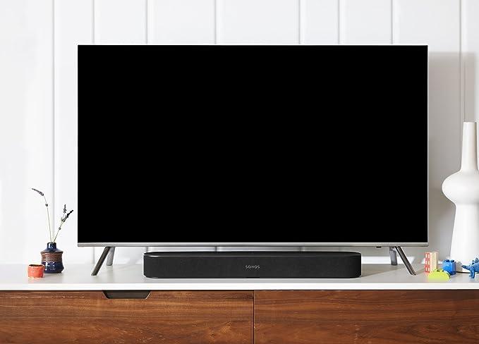 Sonos Beam barra de sonido con Alexa integrada - barra de sonido inteligente para TV y música, altavoz compatible con AirPlay, color negro: Amazon.es: Electrónica