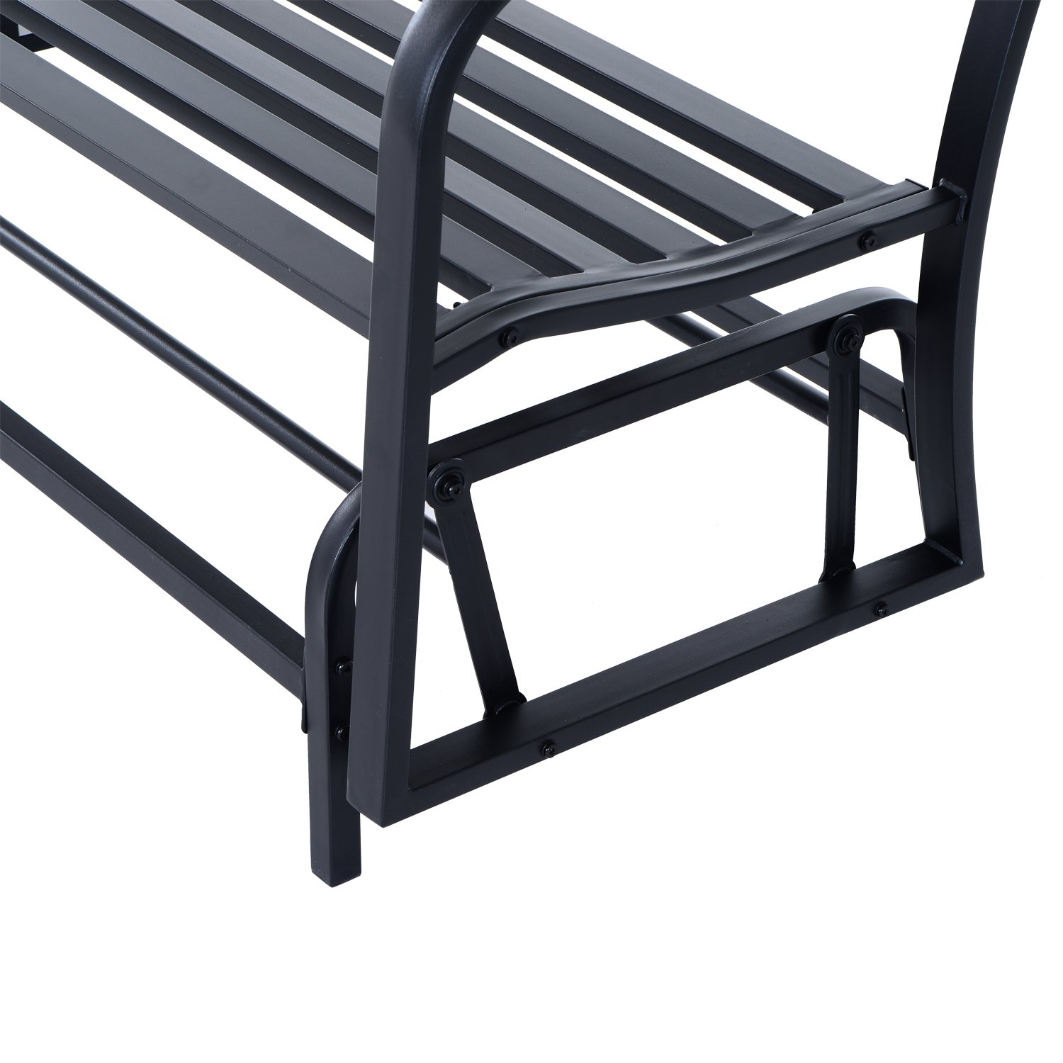 Outsunny Garden 2 Seater Metal Glider Chair Rocking Bench Patio