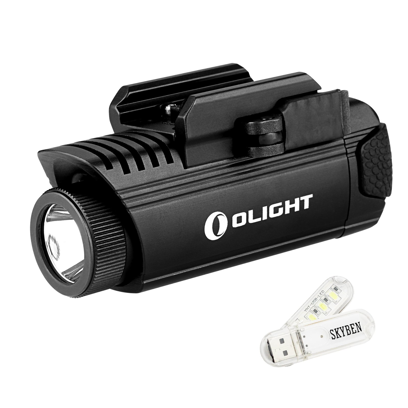 SKYBEN Olight PL1 II Valkyrie 450 Lumens LED Weaponlight Cree XP-L CW LED CR123A Flashlight with USB Light