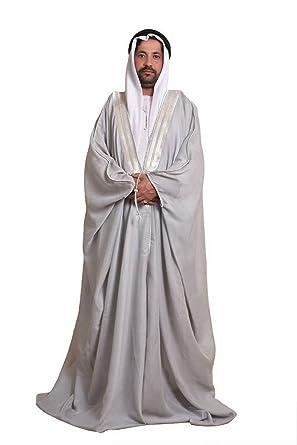 Amazon.com  Grey Bisht Cloak Arab Dress Thobe Saudi Mens Robe Eid (Gray)   Clothing ec3315c36