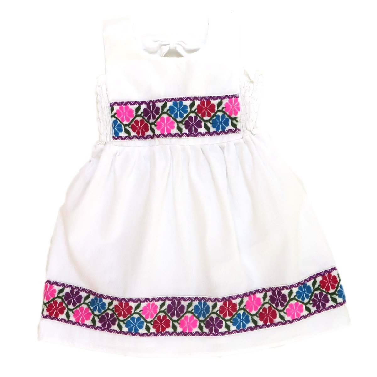 0495e1c05279 Amazon.com: Mexican Clothing Co Little Girls Mexican Dress Nahua Veracruz Manta  CT 3T White 1952: Clothing