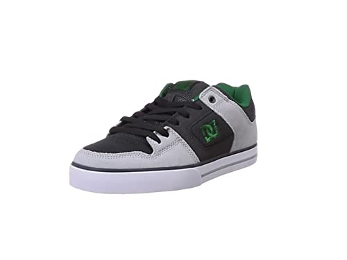 Chaussures Hommes Dc Shoes Pure Se Grey Green Gris Skate 2019