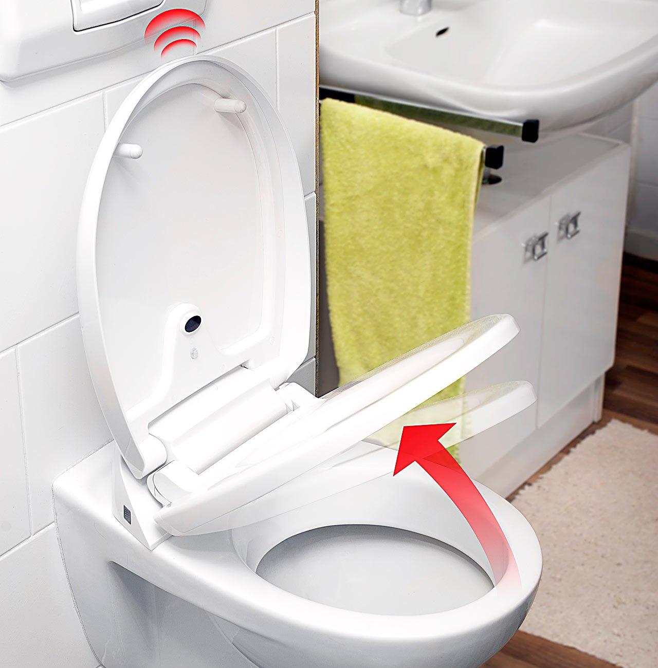 infactory - Sedile automatico per WC con sensore di movimento e ...