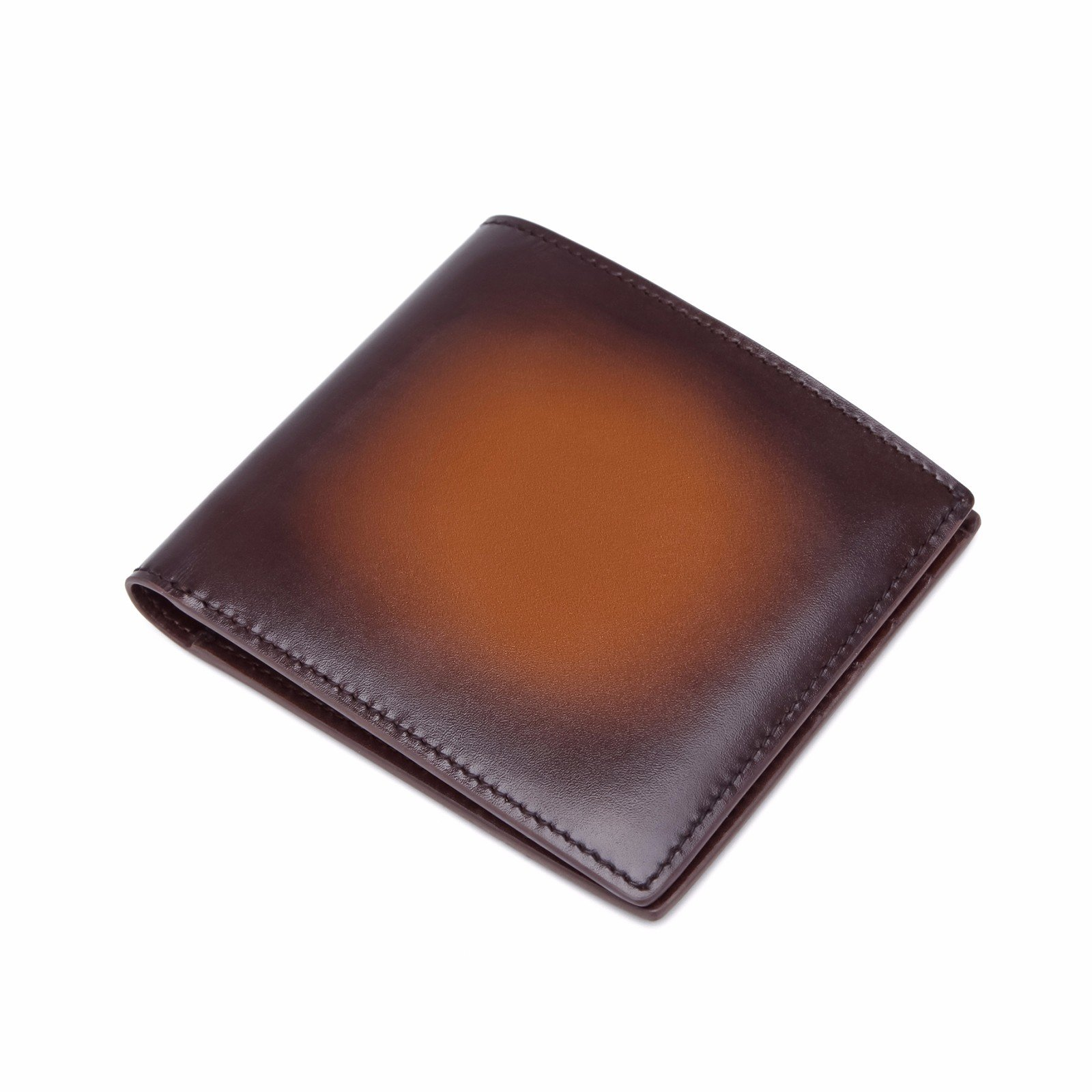 TERSE Front Pocket Leather Wallet Short Bifold Handcrafted Money Clip