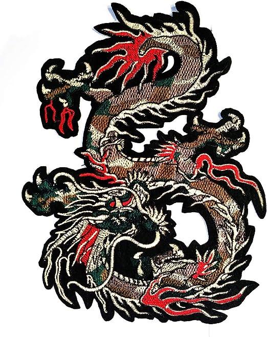 Chinese Dragon kung fu yakuza Tattoo Embroidered Motifs Applique Iron-on Patch