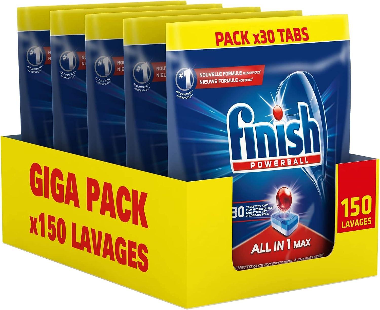 paquets de pastilles Finish en promotion