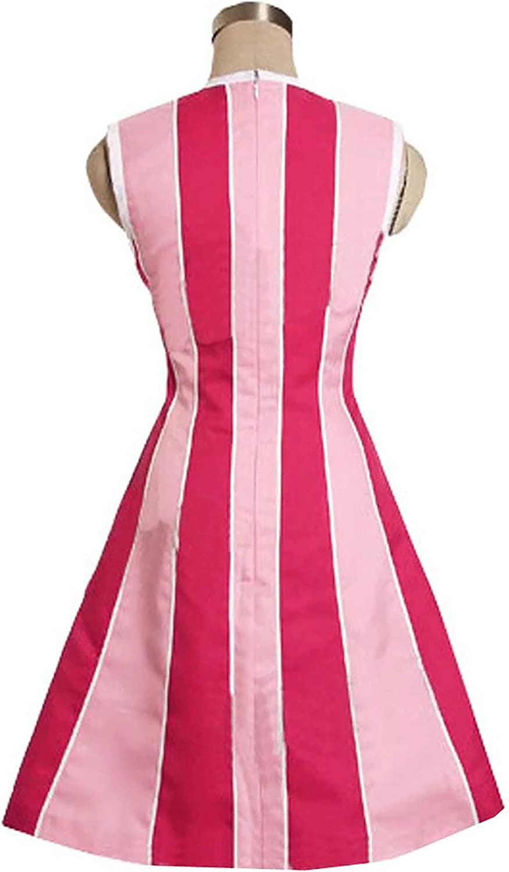 thematys Stephanie Lazy Town Disfraz + Peluca Rosa - Vestido para ...