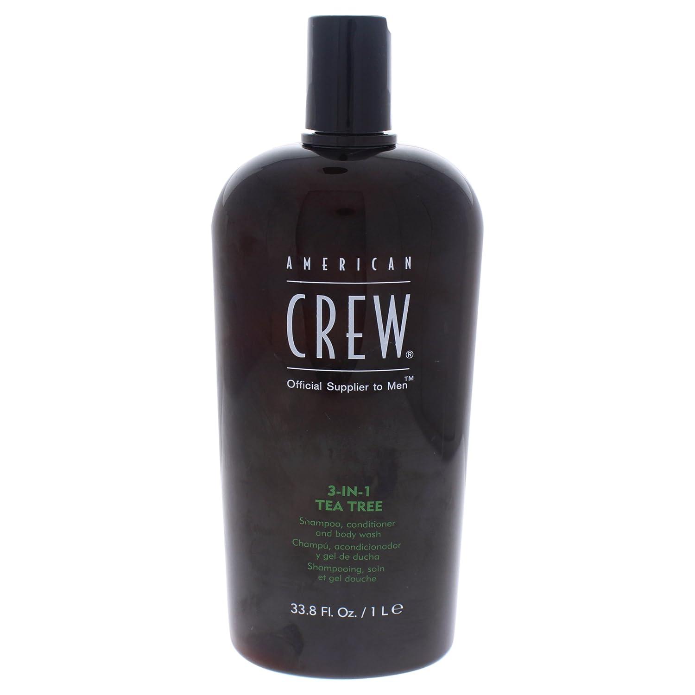 American Crew 3-In-1 Shampoo Conditioner & Bodywash, Tea Tree, 33.8 Oz Revlon Professional