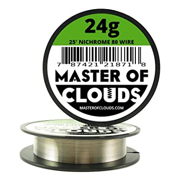 Nichrome 80 25 ft 24 gauge awg resistance wire 051mm 24g 25 nichrome 80 25 ft 24 gauge awg resistance wire 051mm 24g 25 greentooth Gallery
